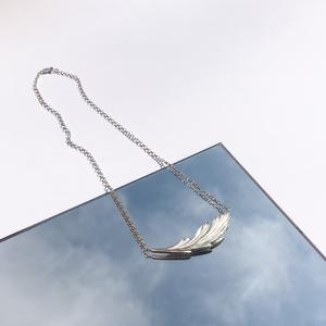 Silver necklace  Model Eva from @lissomemodel