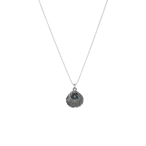 A tiny FLOW pendant with a freshwater pearl comes with a 40cm length ball chain.  Model Eva from @lissomemodel