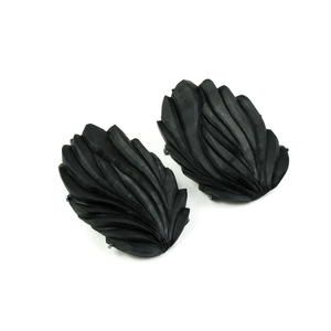 THE DIALOGUE BETWEEN PAST, PRESENT AND FUTURE  Contemporary asymmetric hand-carved earrings
